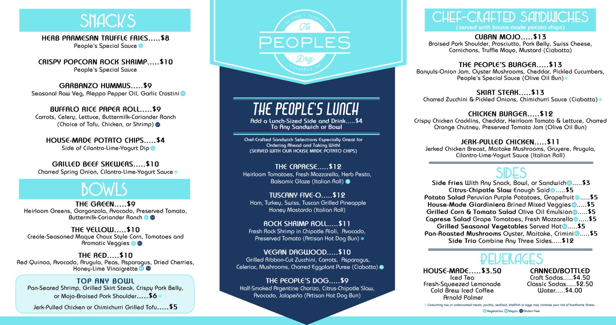 menu the people s drug